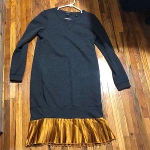 Scotch and Soda grey sweatshirt dress